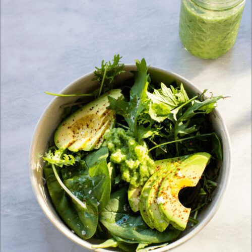 Simple Salad with Green Tomato Salsa Verde_MidPage