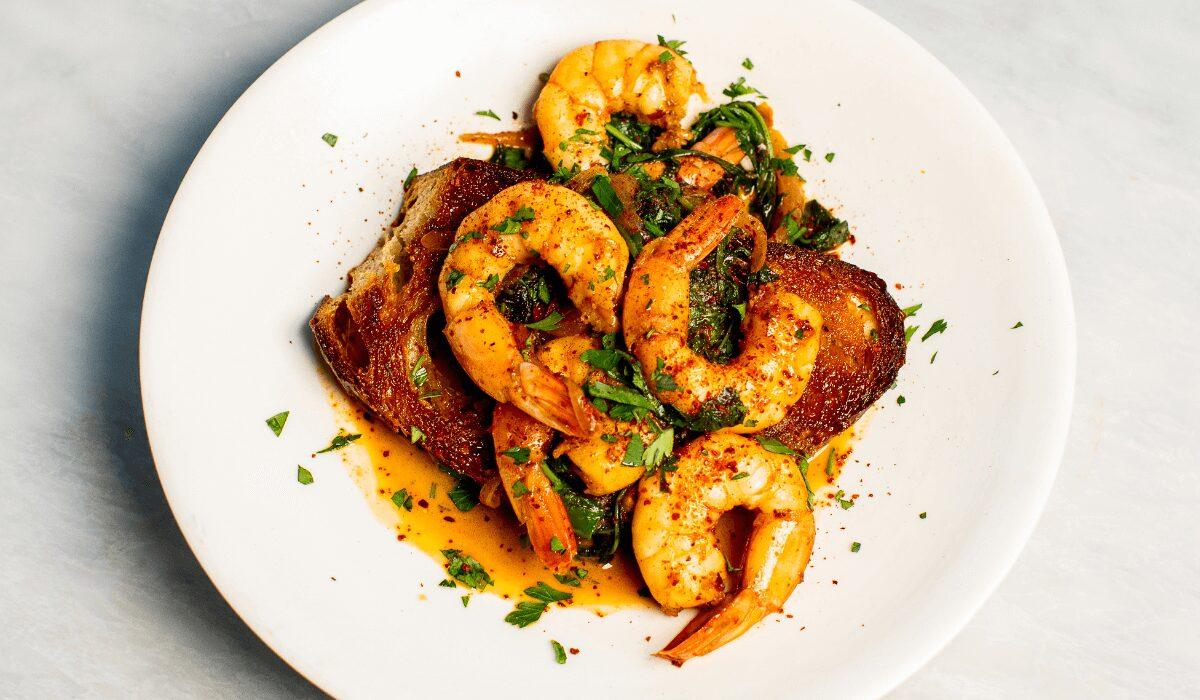 Spicy Aleppo Pepper Shrimp Toast_Hero
