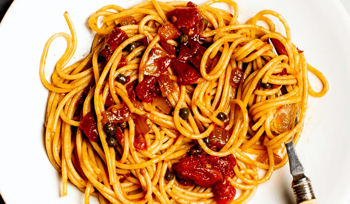 Spaghetti with Capers and Anchovies_Hero