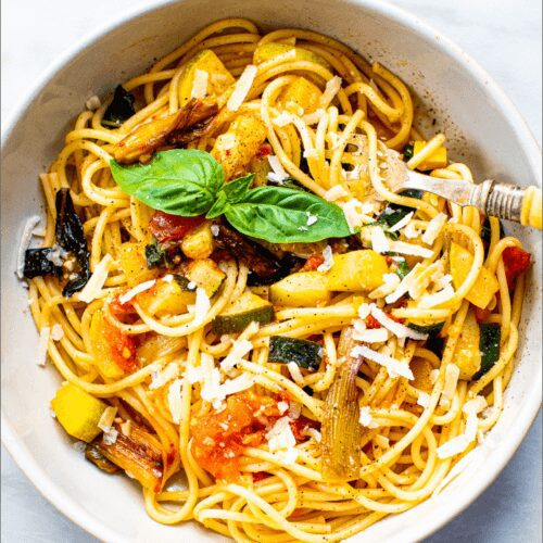 Summer Spaghetti with Charred Scallions
