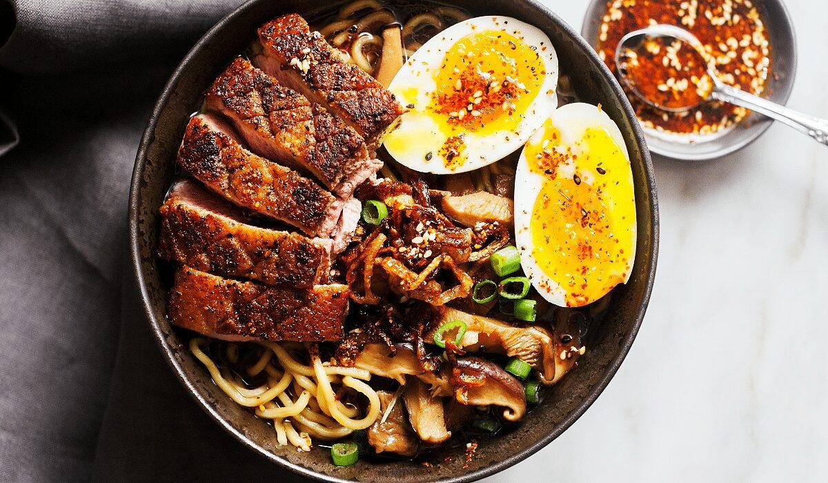 Crispy-Duck-Ramen-with-Porcini-Mushrooms_Hero