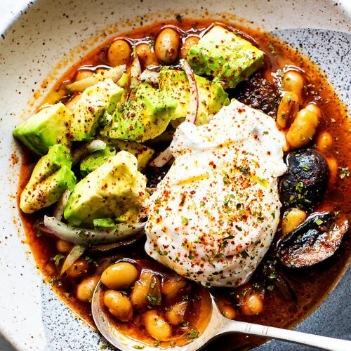 Spicy Brothy Beans with Mushrooms_MidPage