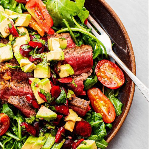 Steak Salad with Avocado-Cherry Salsa_MidPage