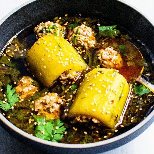 Thai Pork Stuffed Cucumber Soup_Chrissy Teigan Cucumber Soup_MidPage