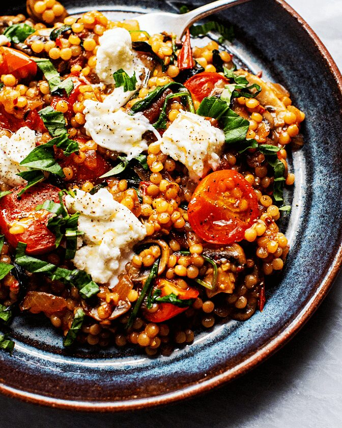 Tomato-Basil Pearled Couscous_MidPage