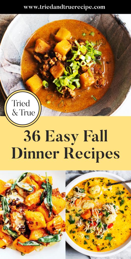 36 Easy Fall Dinner Recipes_Pinterest