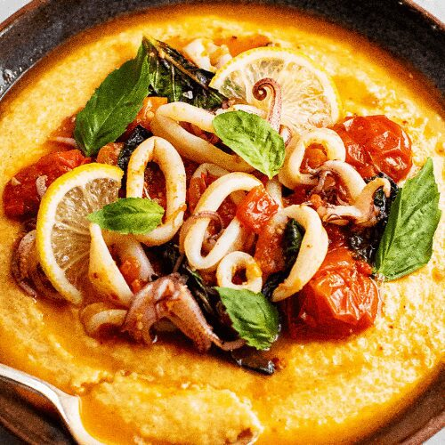 Spicy Squid and Grits Recipe_MidPage