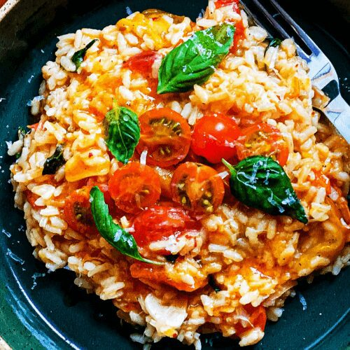 Tomato-Basil Risotto with Parmesan_MidPage