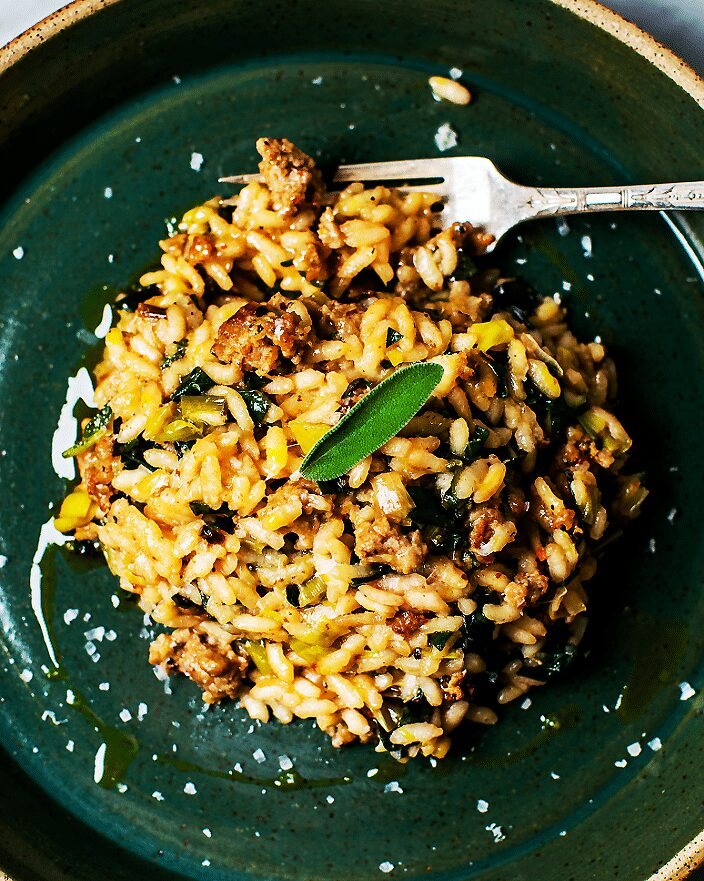 Sausage Leek Risotto with Sage_MidPage – 1