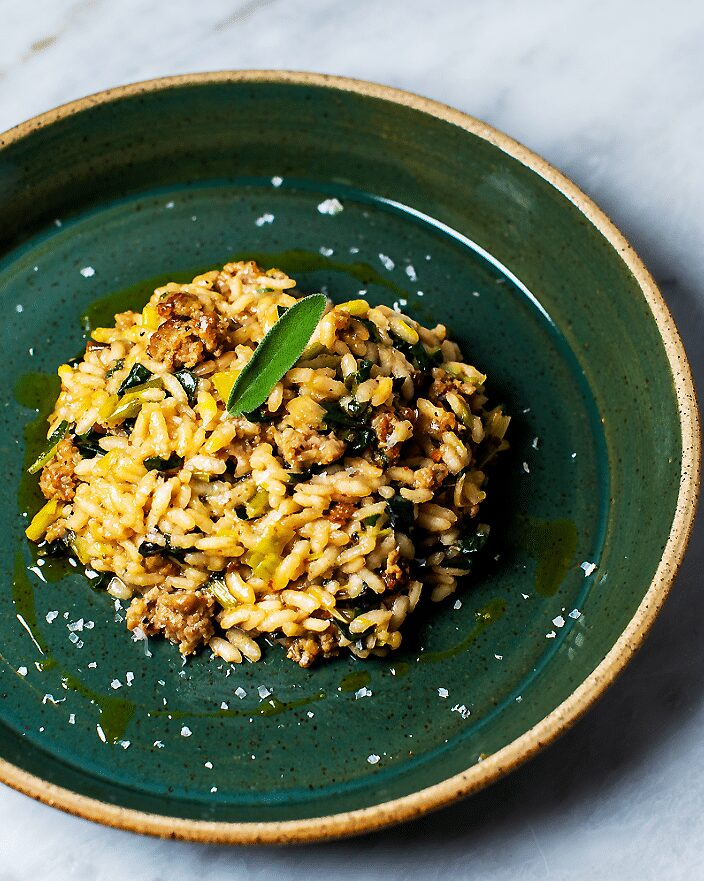 Sausage Leek Risotto with Sage_MidPage