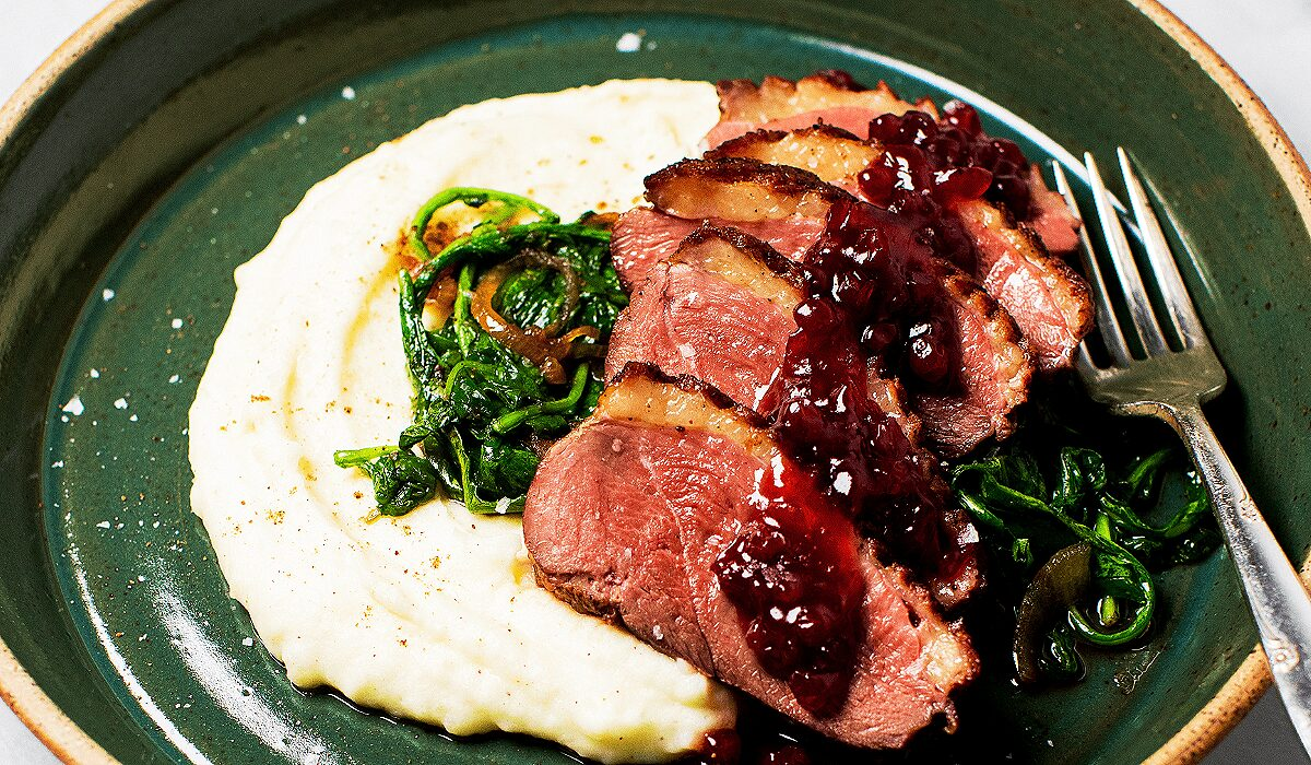 Seared Duck Breast with Lingonberry Sauce_Hero