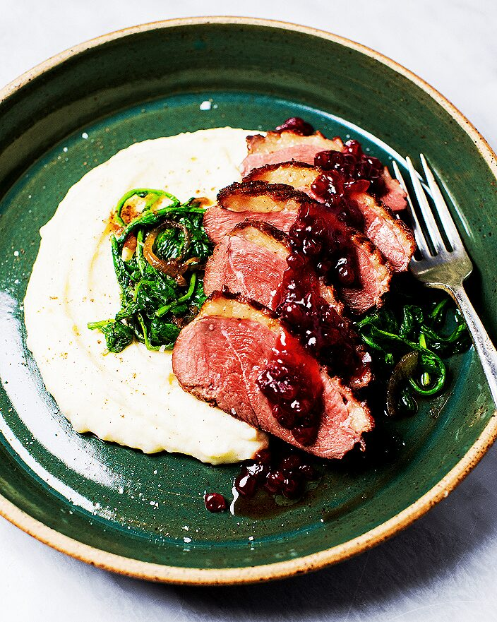 Seared Duck Breast with Lingonberry Sauce_MidPage – 1