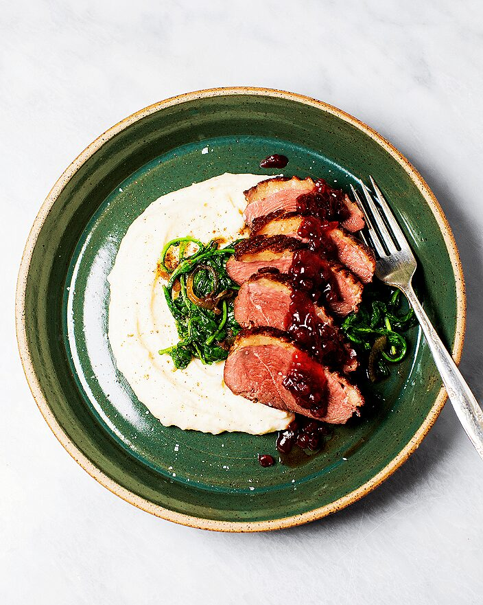 Seared Duck Breast with Lingonberry Sauce_MidPage