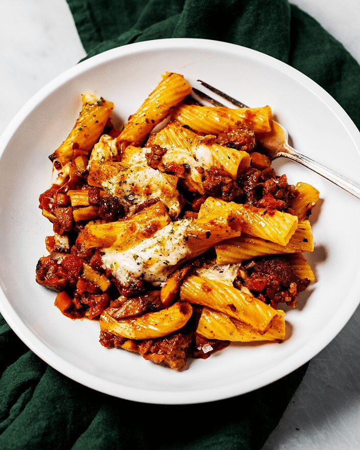 Spicy Mushroom-Sausage Ragù_MidPage