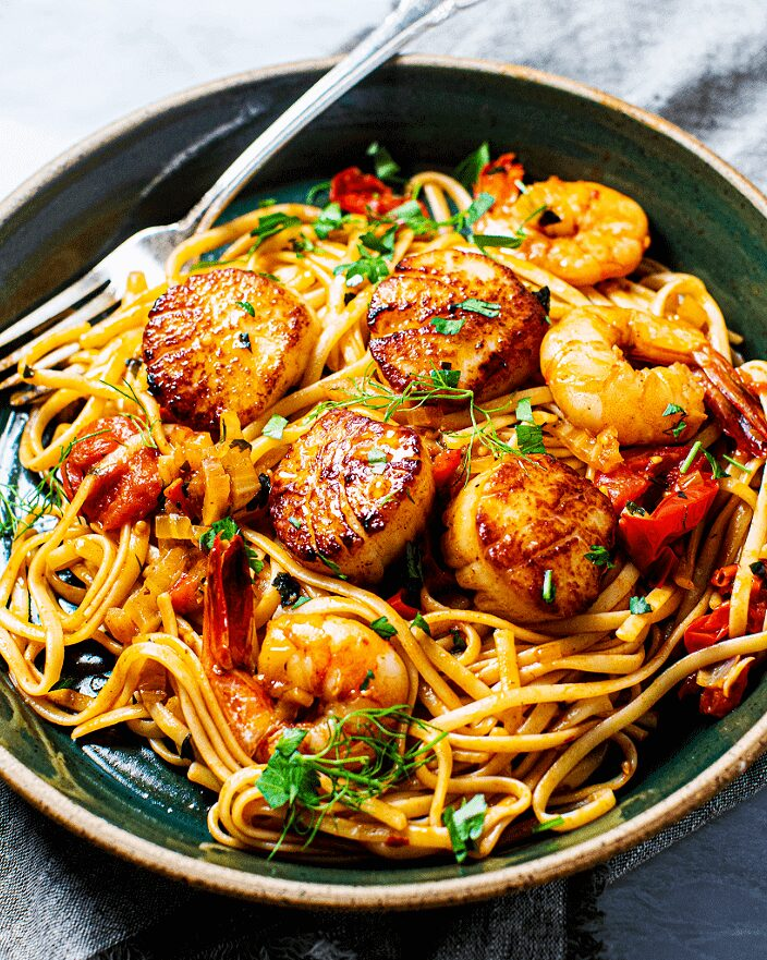 Spicy Scallop and Shrimp Linguine_MidPage – 1