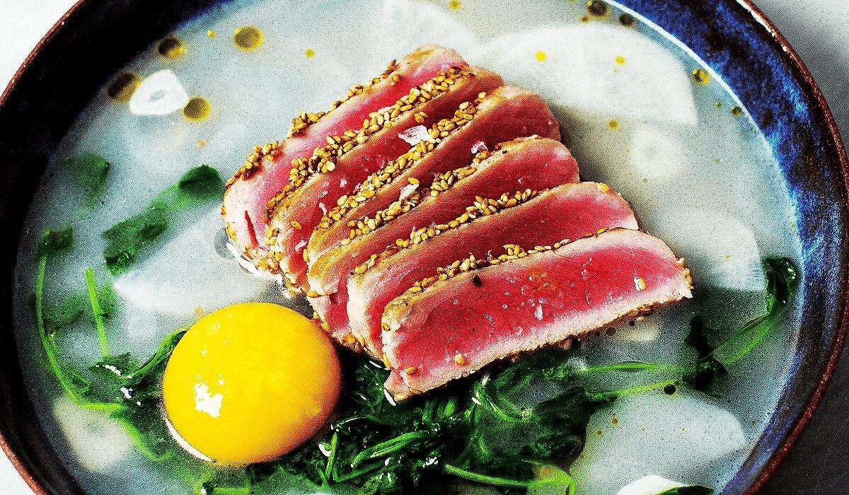 Tuna in Wasabi Pea Broth_Hero