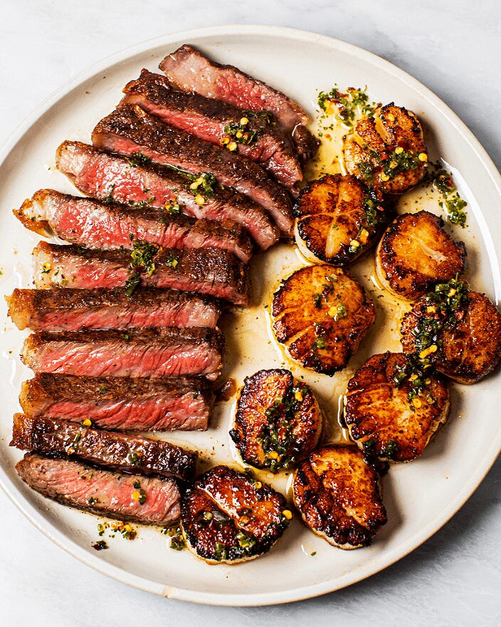 Surf and Turf Recipe Seared Steak and Scallops _MidPage – 1