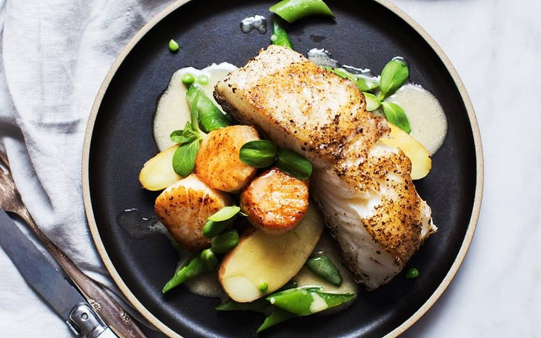 Chilean Sea Bass with Beurre Blanc