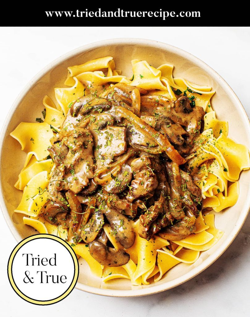 Easy Beef Stroganoff Recipe_Pinterest