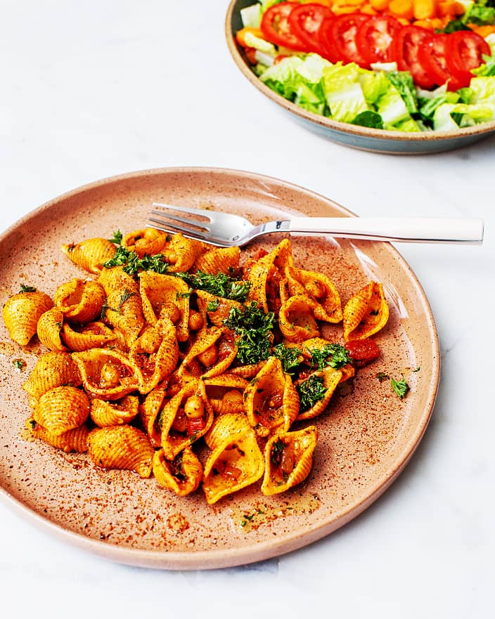 Pasta-and-Chickpeas-with-Harissa_MidPage