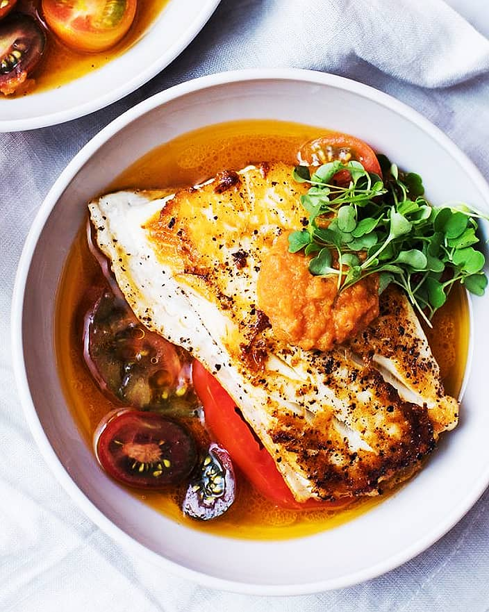 Seared Halibut with Spicy Tomato Oil_MidPage – 1