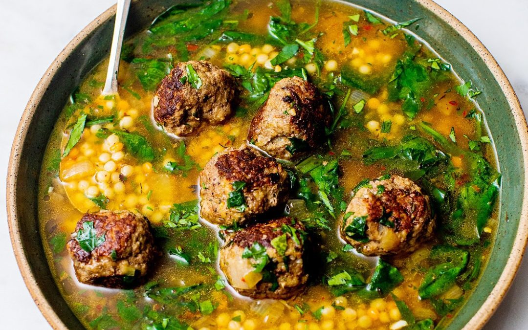 Easy Meatball Soup with Spinach