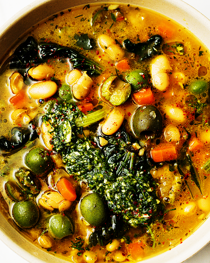 Greens and Beans with Olives_MidPage