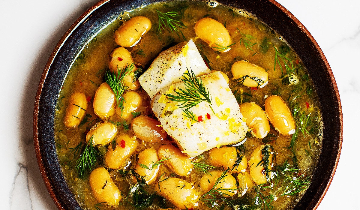 Poached Fish with Great Northern Beans_Hero