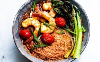 Spicy Thai Shrimp Noodle Soup