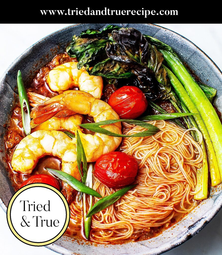 Spicy Thai Shrimp Noodle Soup_Pinterest