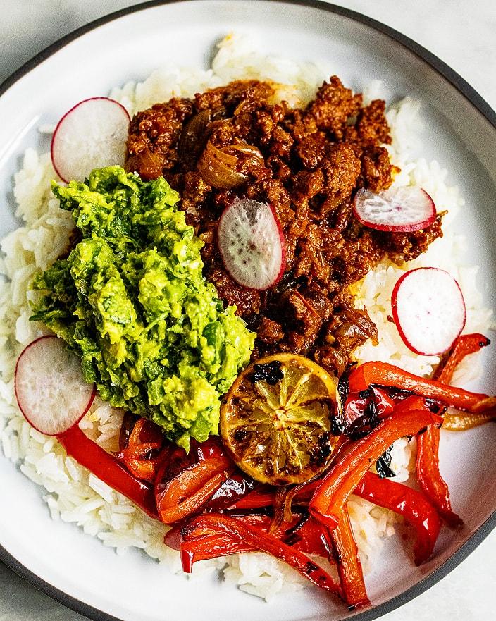 Chorizo Burrito Bowl with Charred Lime_MidPage – 1