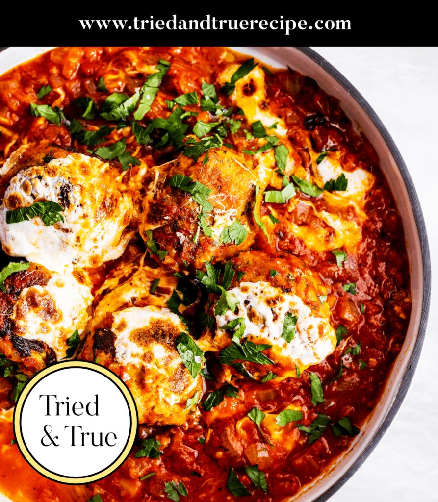 Spicy Calabrian Chicken Meatballs_Pinterest