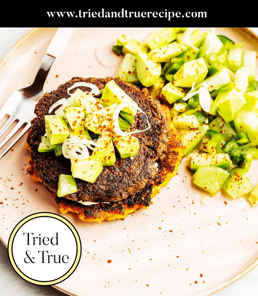 Veggie Burger with Plantain Buns_Pinterest