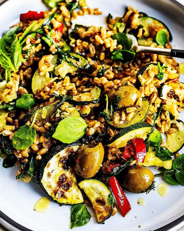 Warm Farro Salad with Basil_MidPage