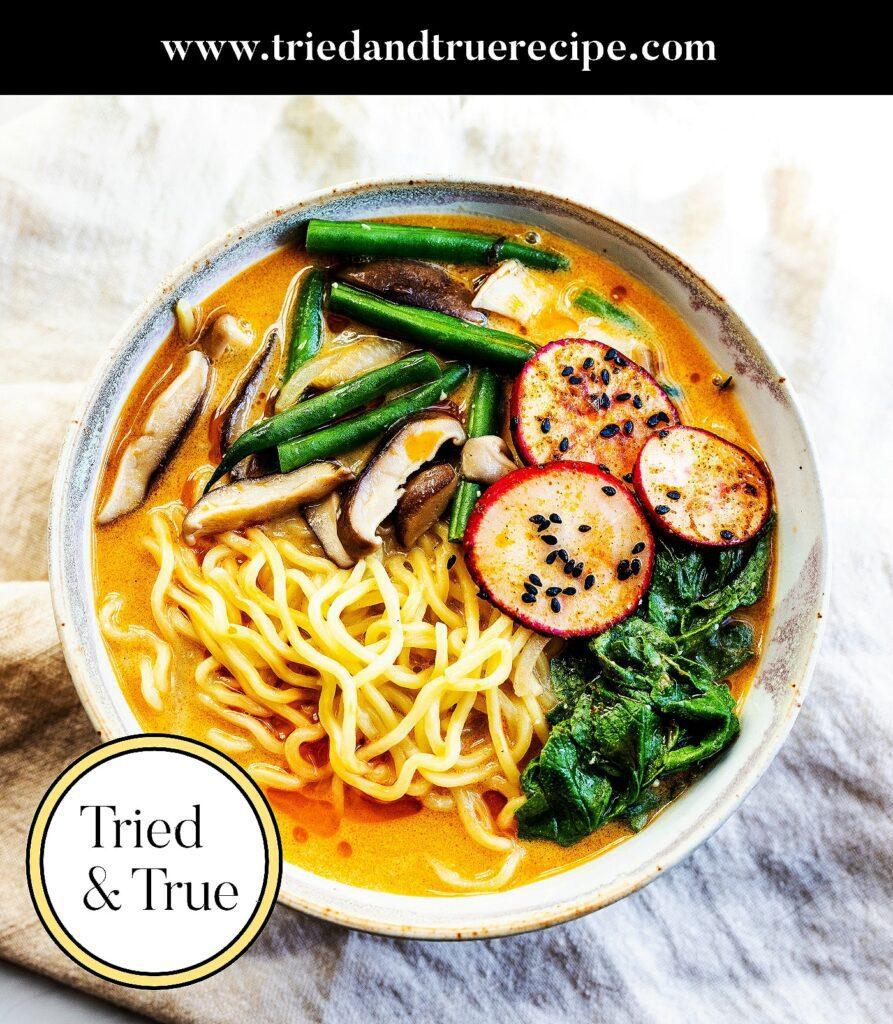 Vegan Radish Top Miso Ramen_Pinterest