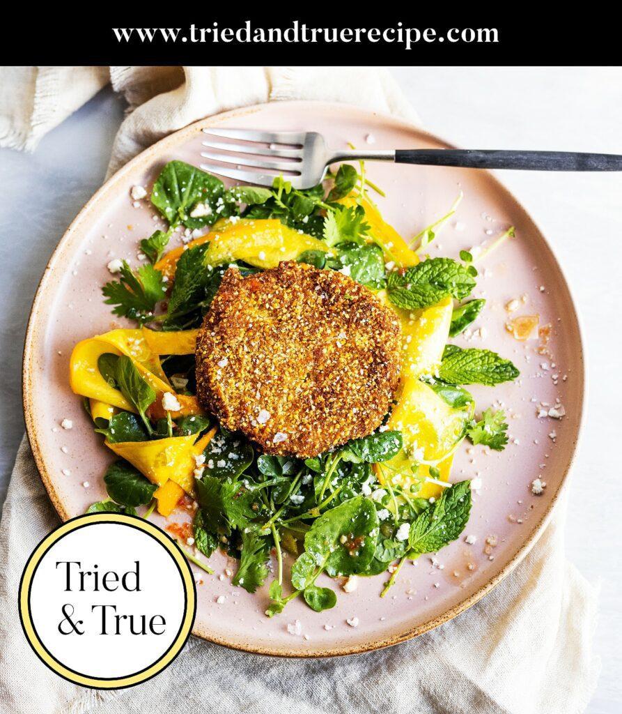 Easy Fried Green Tomato Salad_Pinterest