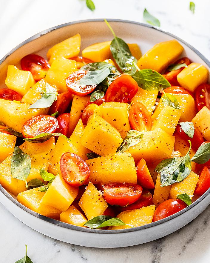 Cantaloupe and Basil Salad_MidPage – 1