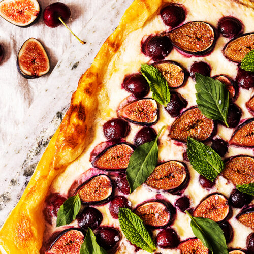 Fig and Cherry Tart with Ricotta_MidPage