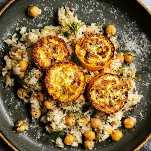 Parmesan Zucchini with Lemon-Dill Rice_MidPage – 1