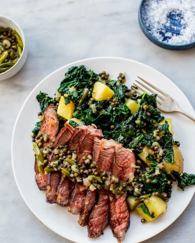 Reverse Seared Steak with Green Peppercorn Sauce _MidPage
