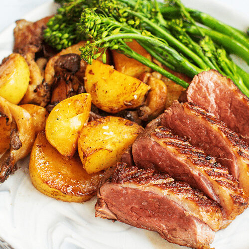 Seared Duck with Duck Fat Roasted Vegetables_Hero