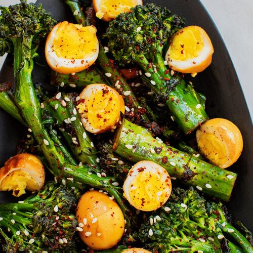 Sesame Quail Eggs with Broccolini_Hero