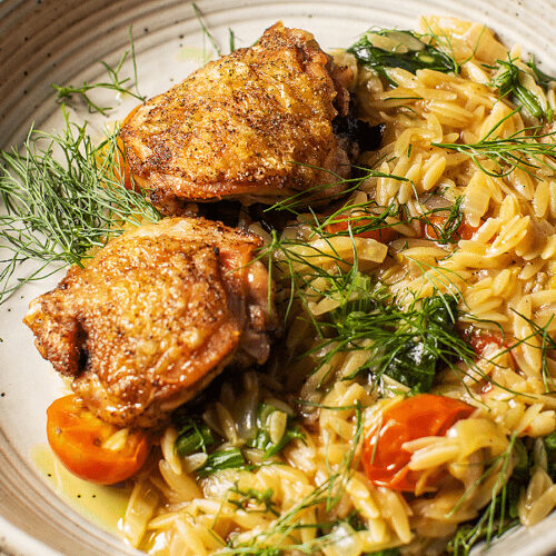 Simple Chicken and Orzo_Hero