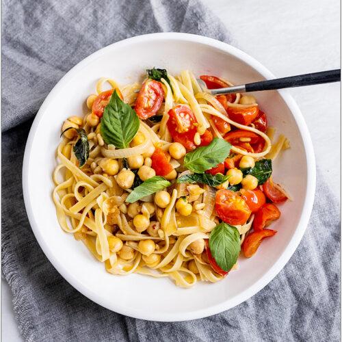 Thai Basil Pasta with Tomato-Mint Chickpeas_MidPage – 1