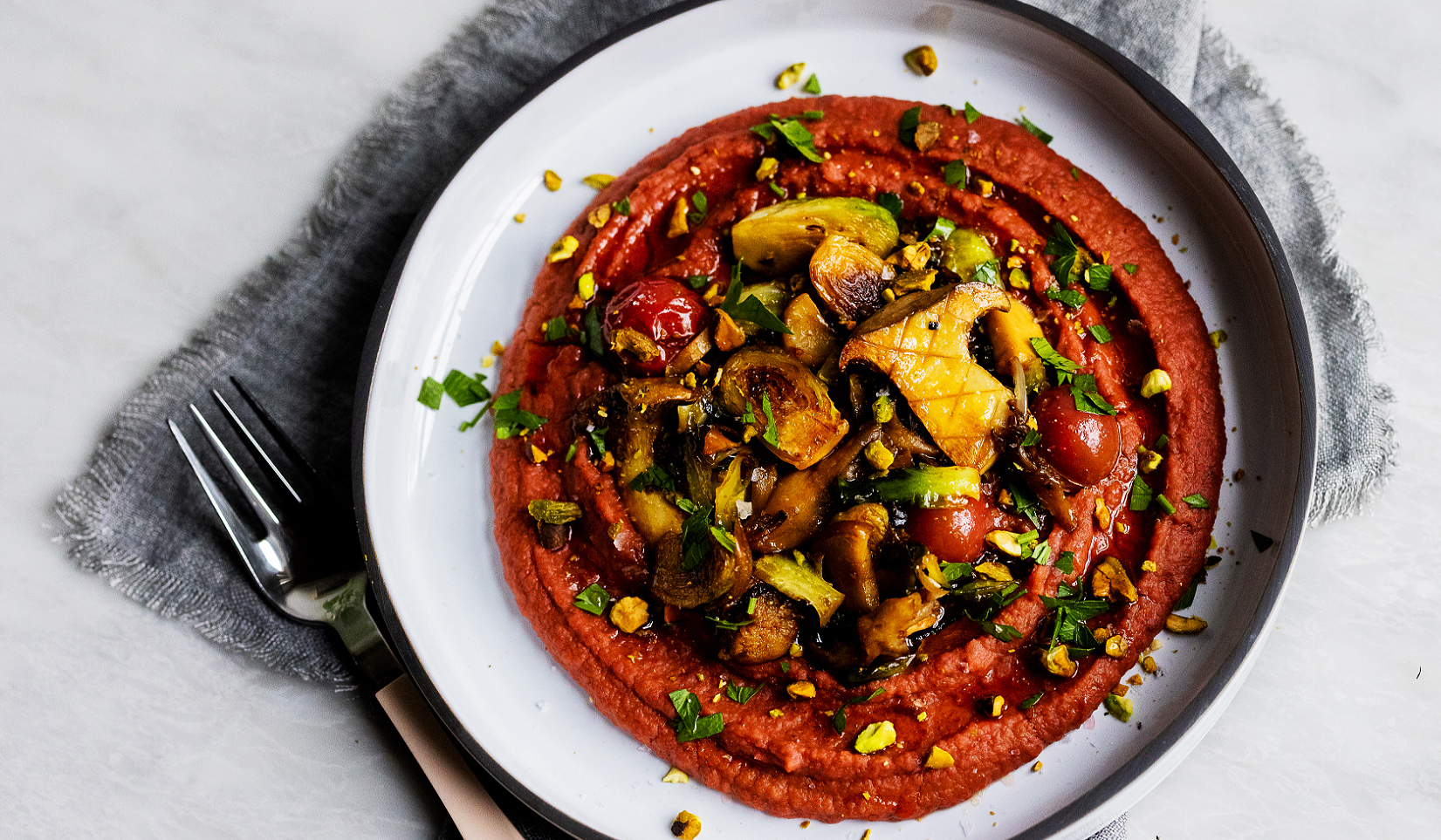 Beet and Bean Purée with Vegetables_Hero@2x