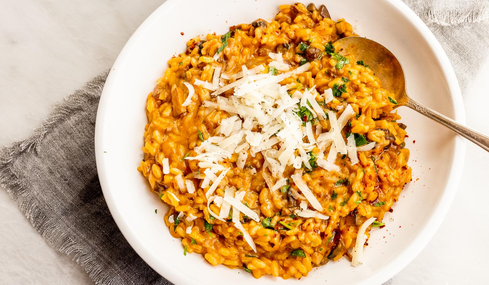 Vegetarian Mushroom Chorizo Risotto_Hero