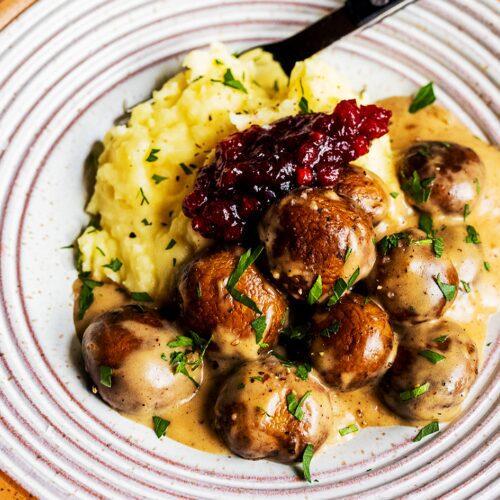 Vegetarian Swedish Meatball Mushrooms_MidPage