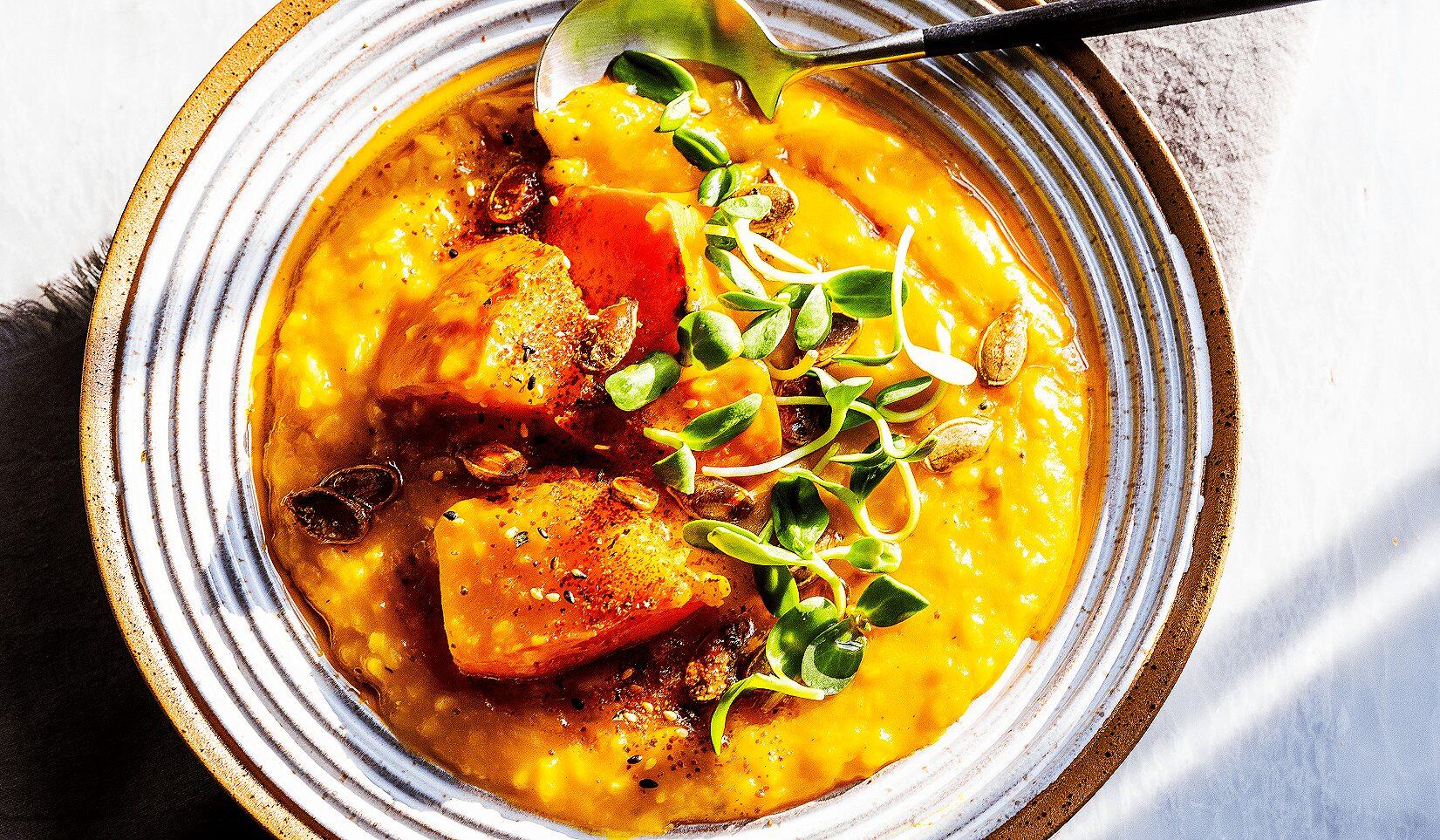 Red Kabocha Rice Soup_Hero